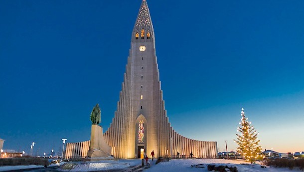 Hallgrímskirkja church is Reykjavík's main landmark and has an organ weighing 25 tonnes. Photos: Promote Iceland