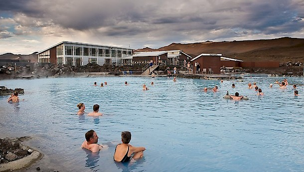 Jardbodin baths are constantly warm. Photo: Promote Iceland