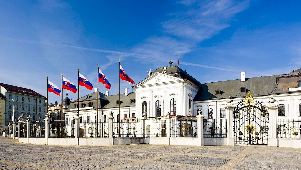 Bratislava's Grassalkovich Palace: home of the Slovak president. Photo: SARIO