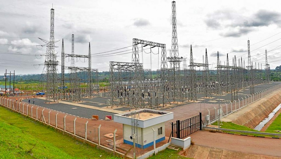 An electricity substation in Uganda. The country is diversifying its energy mix into renewables.